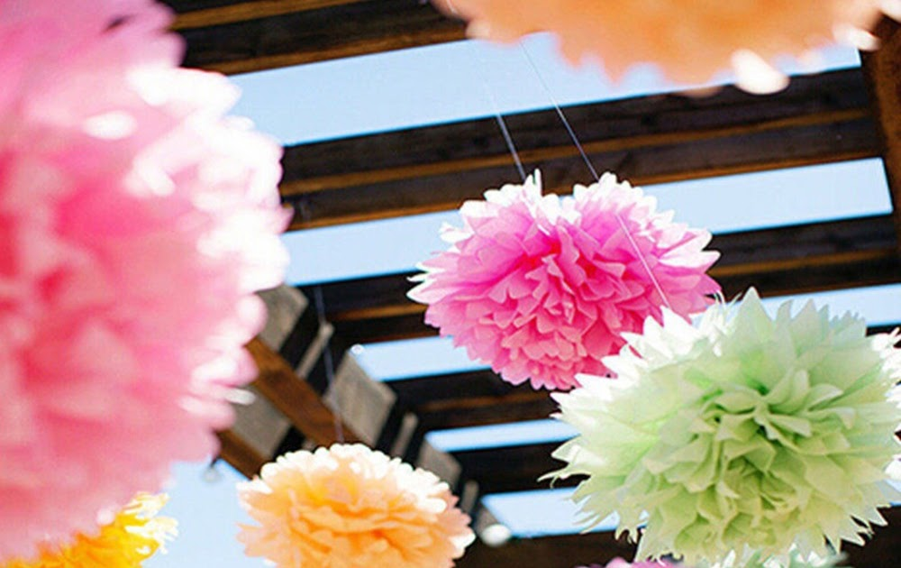 Fascola 16 pcs White Peach Orange 10inch 8inch Tissue Paper Pom Pom Paper Lanterns Mixed Package for Lavender Themed Party Bridal Shower Decor Baby Shower Decoration