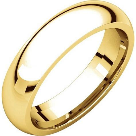 XH123815 14K Gold 5mm Heavy Comfort Fit Wedding Band