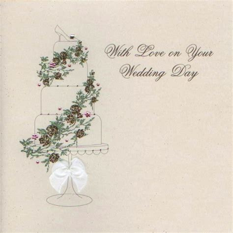 MojoLondon: With Love on Your Wedding Day Cake Card by