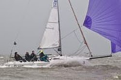 J/80 sailing on Solent