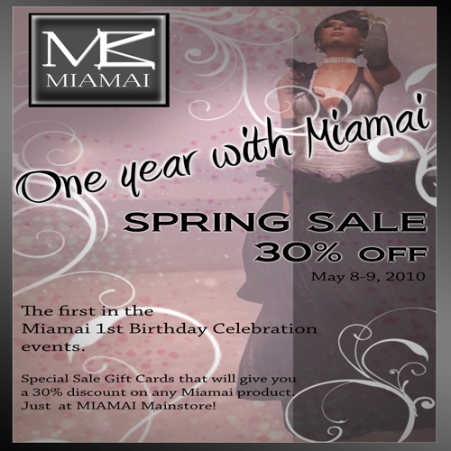 Miamai_One year with Miamai_30%off sale