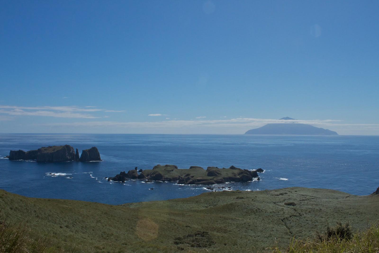 View of Tristan da Cunha from Nightingale Island