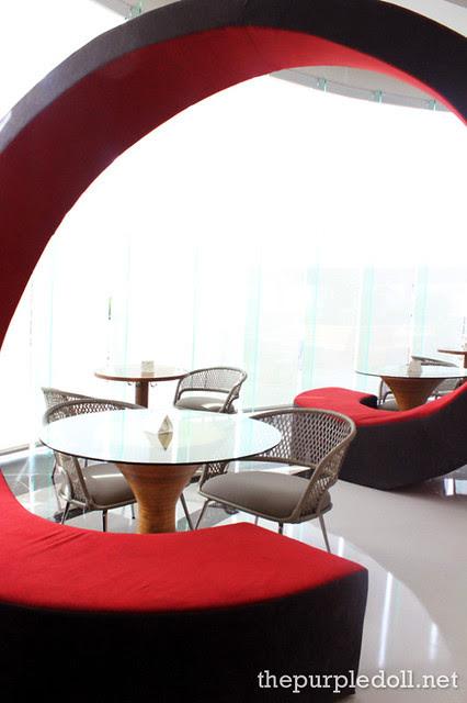 F Restaurant's Swirly Couch