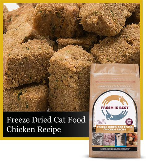 freeze dried chicken cat food fresh