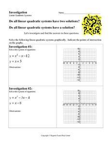 35 Linear Quadratic Systems Worksheet - Notutahituq ...
