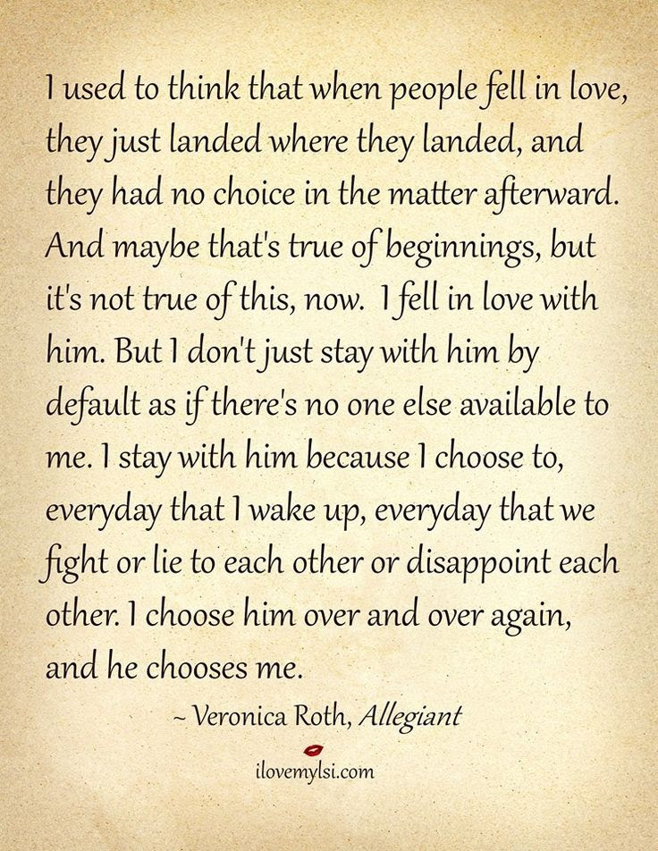 Quotes About Choosing Love