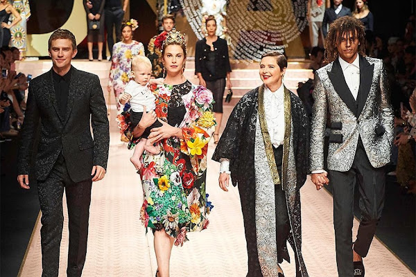 837b3021 Plus-sized models and 1990s 'supers' walk for Dolce & Gabbana in Milan