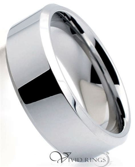 Mens Tungsten Carbide Ring Wedding Band 8MM   Size 7 to 14