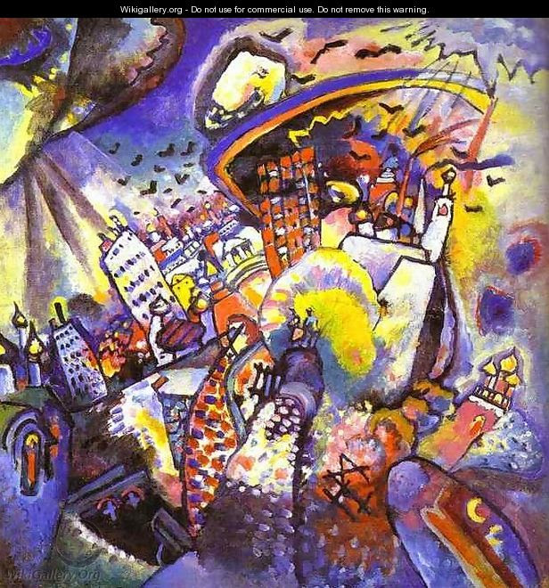 Moscow I Wassily Kandinsky Wikigalleryorg The Largest Gallery