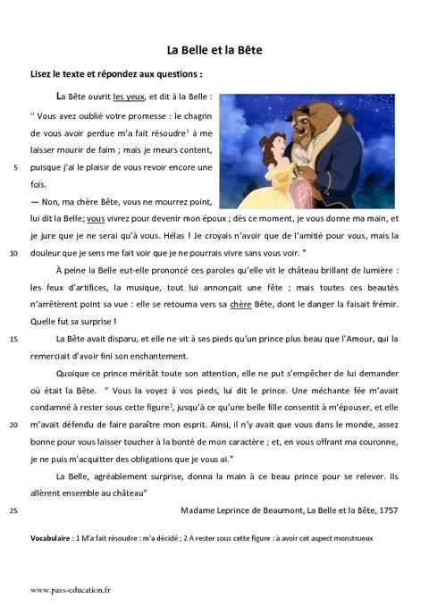 """""""La Belle et la Bête"""" - czytanie ze zrozumieniem - Francuski przy kawie"""