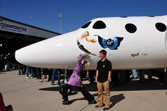 BBtv at Virgin Galactic launch, Mojave Spacepo...