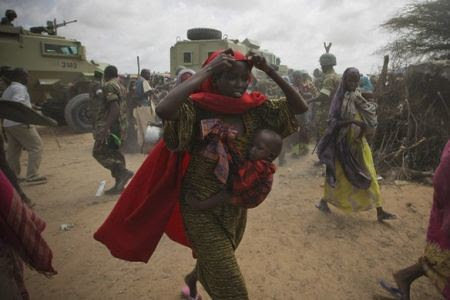 People are migrating back to the Somalian capital of Mogadishu in response to the famine taking place in at least two regions of the Horn of Africa nation. The UN has urged assistance. by Pan-African News Wire File Photos