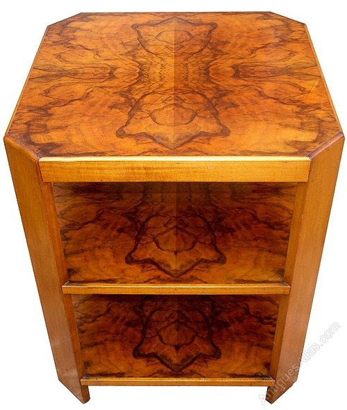 Art Deco Walnut 3 Tier Table - Antiques Atlas