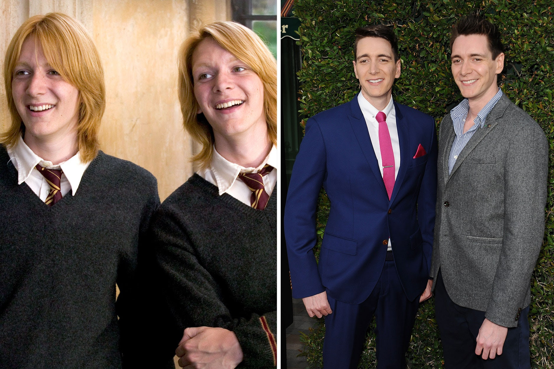 Resultado de imagen de James & Oliver Phelps before and after