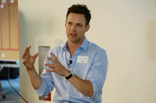 Nick Huzar, CEO of OfferUp at a Startup Grind event.