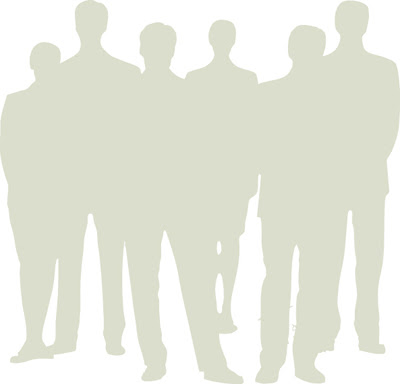 diverse adults silhouette