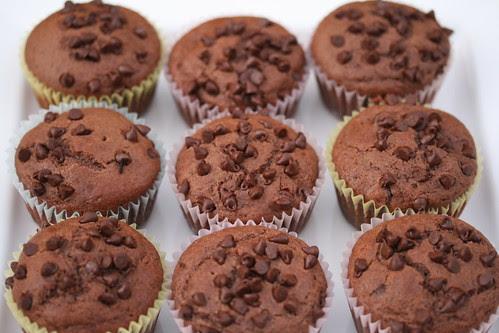Nigella's Chocolate Chocolate-Chip Muffins