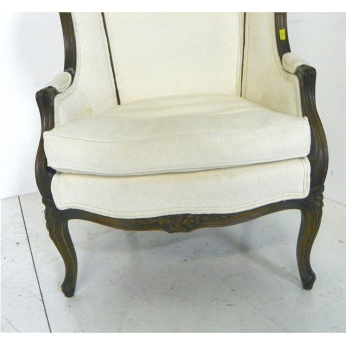 20th c. French style hooded porter's chair