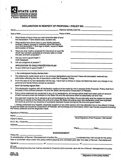Max Life Insurance Policy Amendment Form Pdf