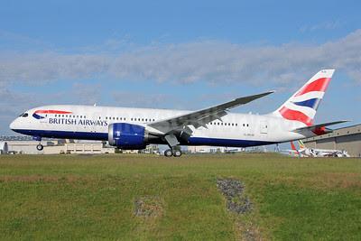 British Airways Boeing 787-8 Dreamliner G-ZBJB (msn 38610) PAE (Nick Dean). Image: 912483.