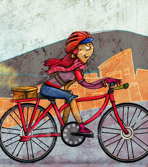 Ilustración. Adelanto Caperucicla por Hache Holguín