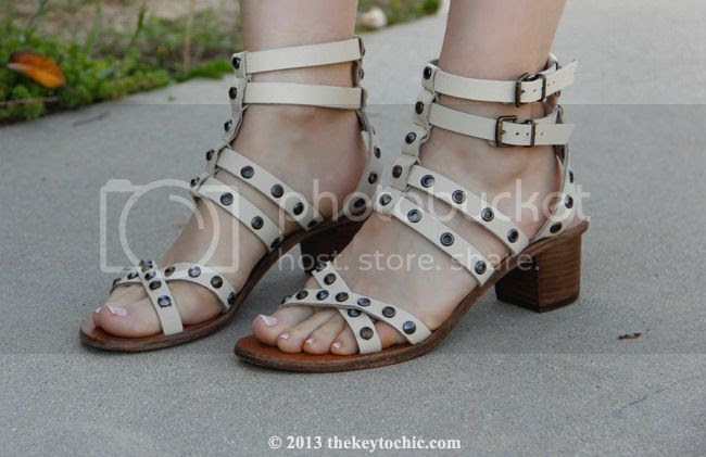 Mango studded gladiator heeled sandals