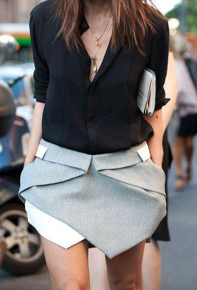 серая юбка шорты