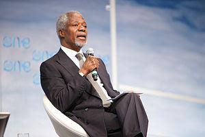Kofi Annan at the One Young World inaugural su...
