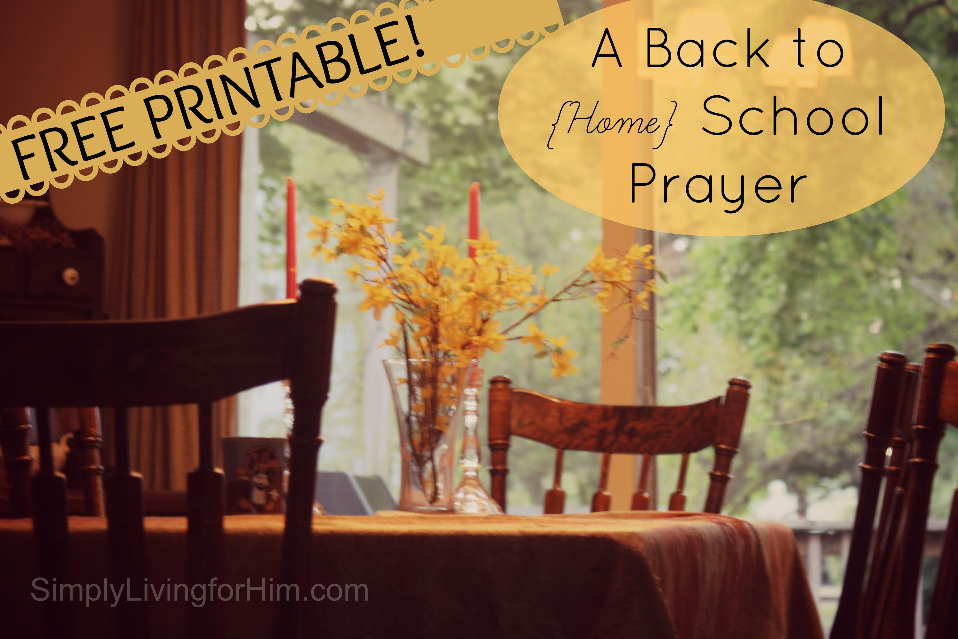 FREE Mother's Prayer for Homeschooling Printable | Free ...