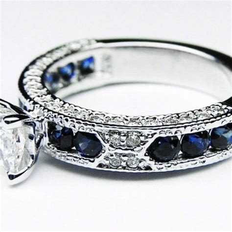 25  Best Ideas about Sapphire Wedding Bands on Pinterest
