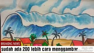 Cara Menggambar Gunung Meletus Viyoutube