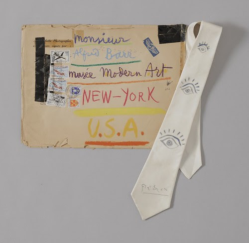 Hand-decorated tie & envelope from Pablo Picasso by MoMA The Museum of Modern Art