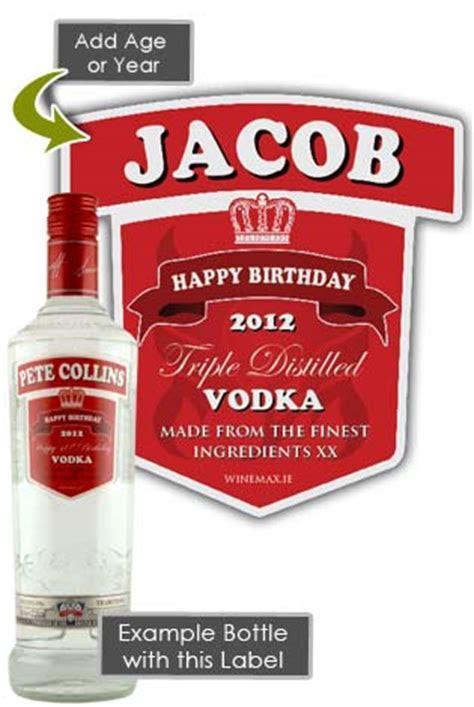 Smirnoff Vodka Personalised Bottle Gift Age 70cl [SMIR2