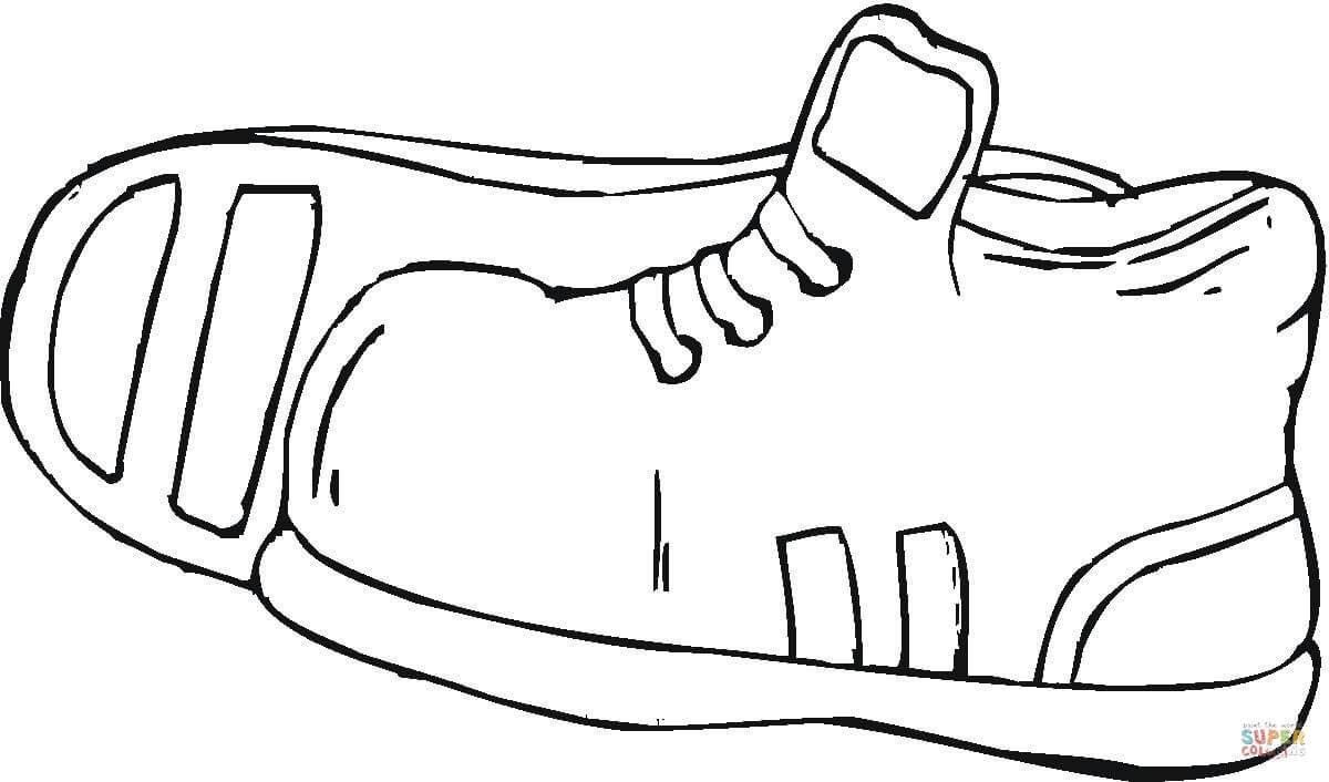 Ginnastica Disegni E Disegno Colorare Scarpe Da Di Qhnxot18
