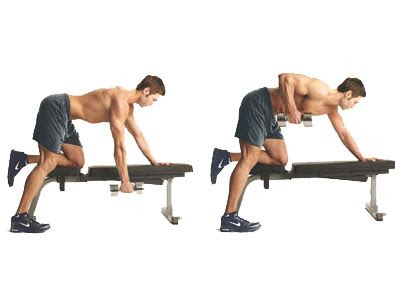 perform bent  rows   barbell dumbbells