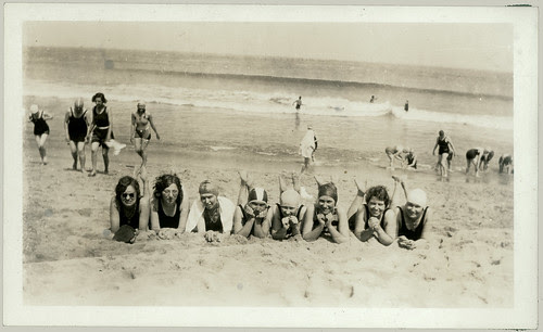 Eight laying in the sand