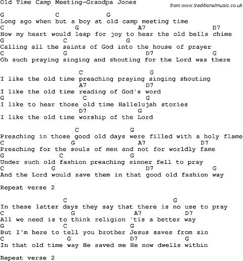 I Like The Old Time Preaching Praying Shouting Singing Lyrics