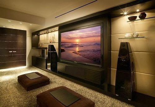 9 Awesome Media Rooms Designs: Decorating Ideas for a Media Room ...
