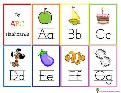 13 Sets of Free, Printable Alphabet Flash Cards for Preschoolers ...