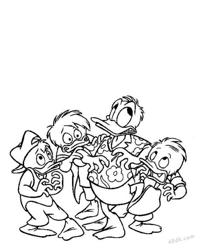 40dkcom Donald Duck Boyama Sayfası 326 40dk Eğitim Bilim