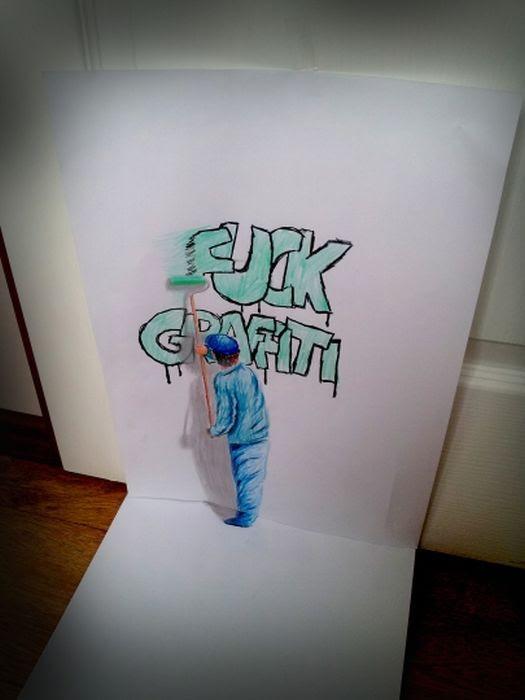 絵が飛び出す3dトリックアートの描き方デッサン集 デッサンアートラボ