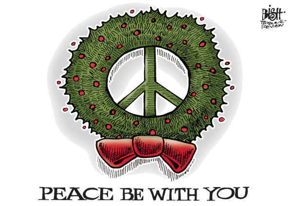 Randy Bish - Pittsburgh Tribune-Review - PEACE FOR CHRISTMAS, COLOR - English - CHRISTMAS, PEACE, 2011