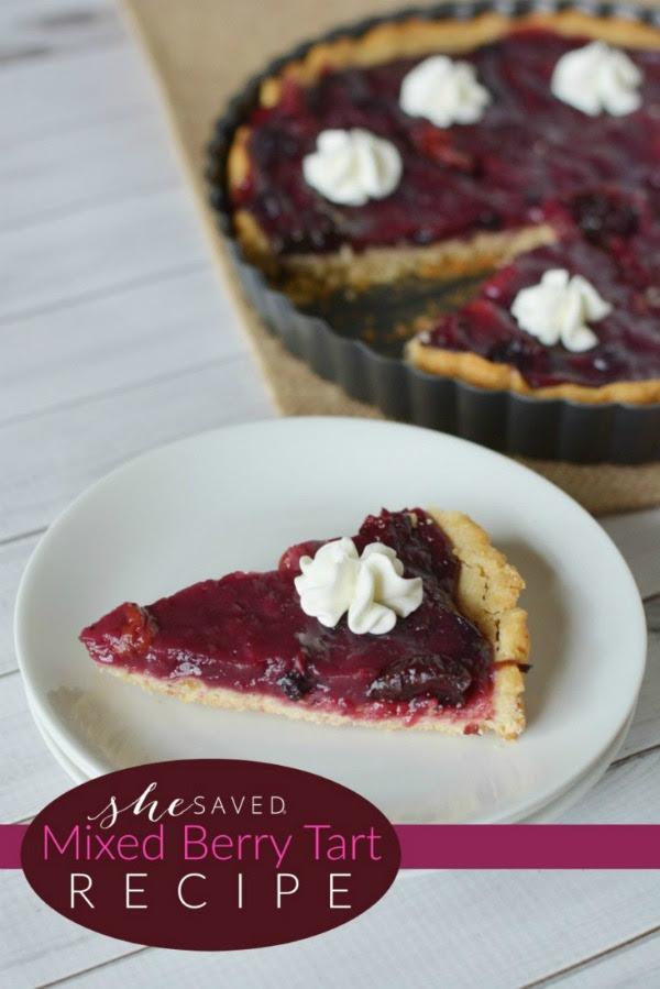 Mixed Berry Tart recipe by She Saved