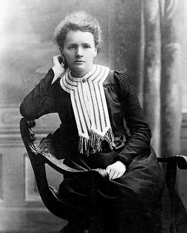 Ground breaking: Marie Curie in 1903 at the time she was awarded her Nobel prize in Chemistry