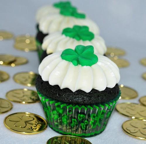 st. patty cupcake