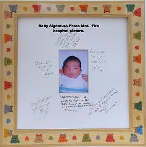 Teddy Bear Greeting Signature Mat Photo Frame 10x10