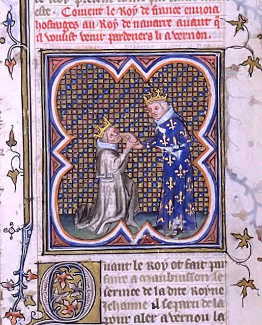 Ato de vassalagem de Carlos o Mau, rei de Navarra, a Carlos V da França.