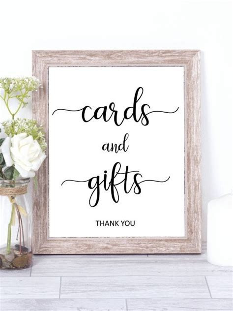 Cards and gifts sign printable, wedding gift table signs