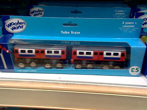 Packaged London Underground Wooden Toy Tube Train - taken by Fimb