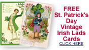 free vintage St. Patrick's Day Irish lads cards